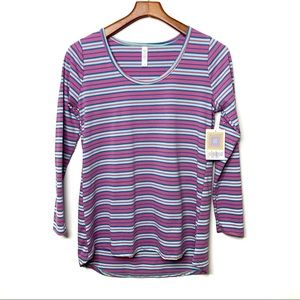 LULAROE Striped Lynnae Long Sleeve Top NWT Small